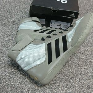 Adidas Combat Speed 5 Black Silver Wrestling Shoes